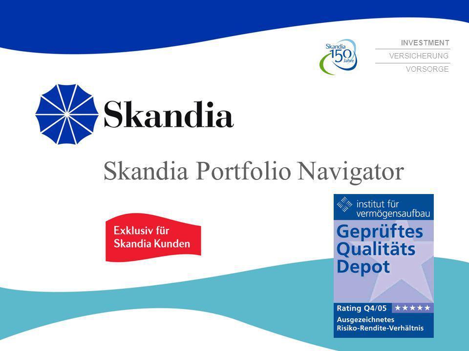 INVESTMENT VERSICHERUNG VORSORGE Skandia Portfolio Navigator