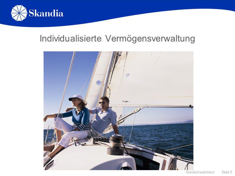 Seite 6 Skandia Deutschland Die Technik hinter dem Skandia Portfolio Navigator Zugrundeliegende Technik: Asset Liability Modelling Wurde an mehreren internationalen Elite-Universitäten entwickelt Wird bisher nur für institutionelle Investoren angewendet.