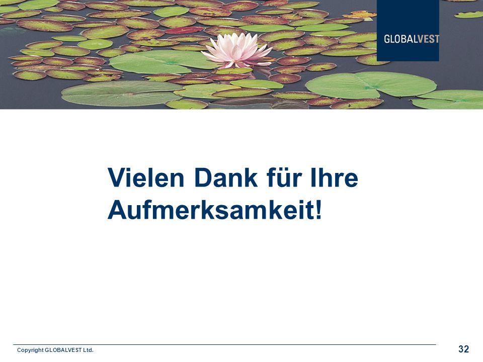 Copyright GLOBALVEST Ltd. 32 Vielen Dank für Ihre Aufmerksamkeit!