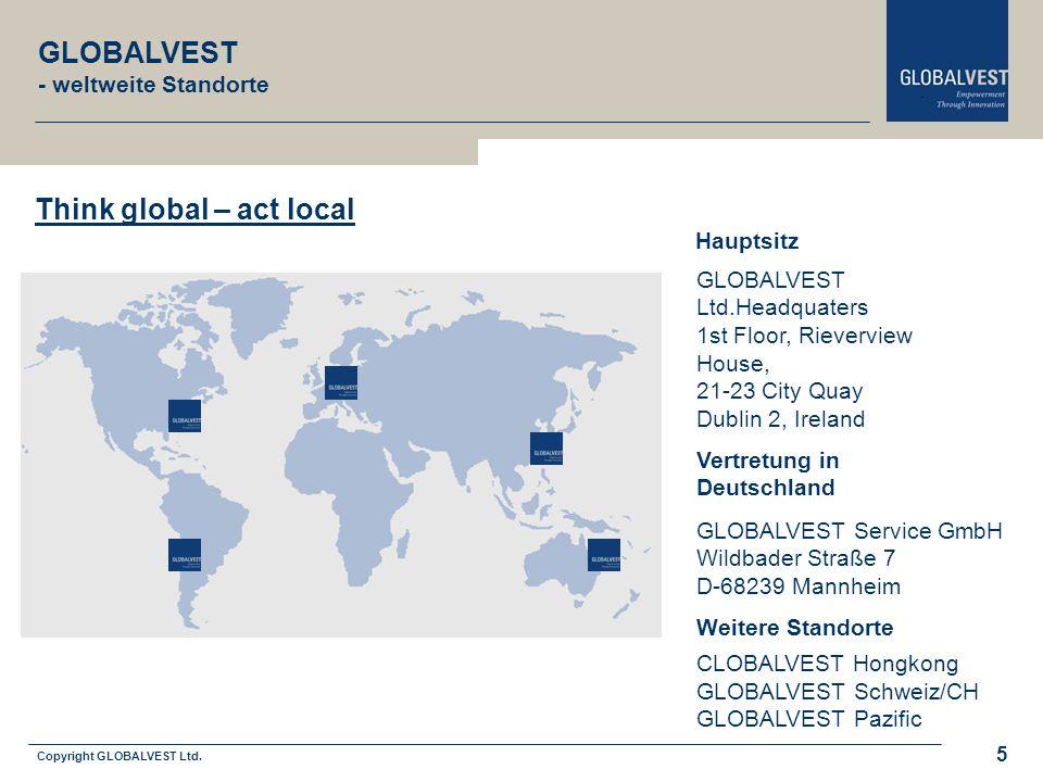Copyright GLOBALVEST Ltd. 5 CLOBALVEST Hongkong GLOBALVEST Schweiz/CH GLOBALVEST Pazific GLOBALVEST Service GmbH Wildbader Straße 7 D-68239 Mannheim G