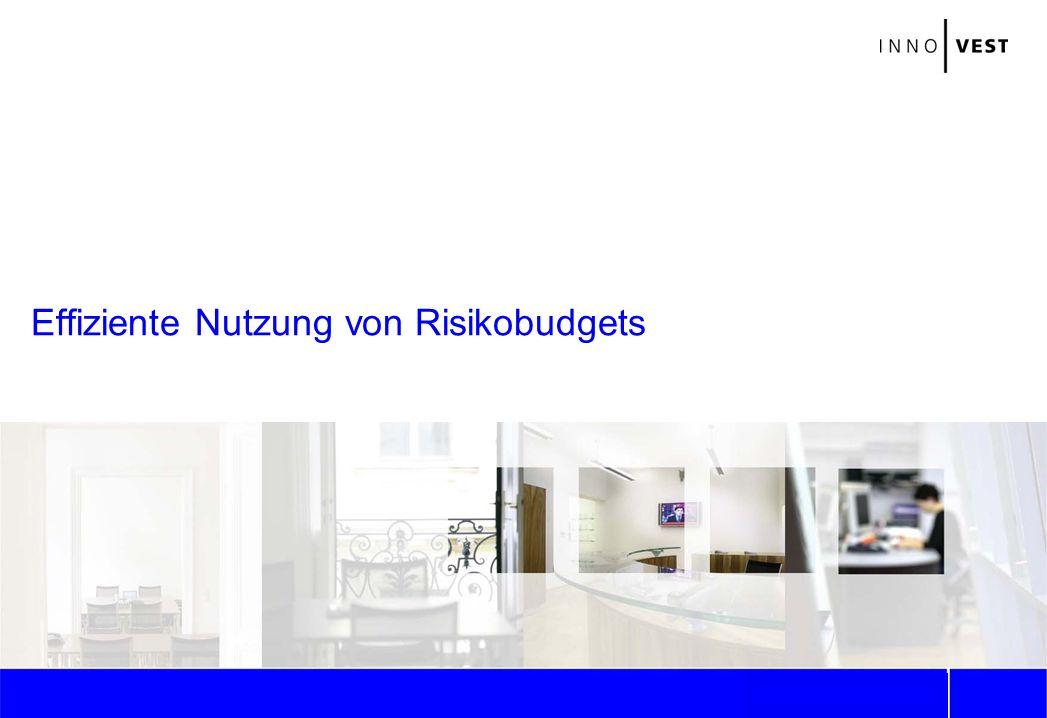 2 Risikobudgets: Bestimmungsmöglichkeiten Diversifikation: Potenziale ausreizen Risikomanagement: Strategiealternativen Stratiewechsel: Sinnvoll.