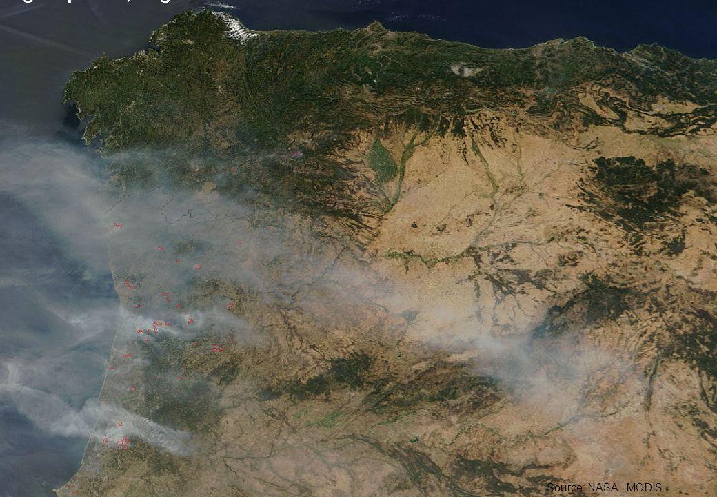 26 Portugal/Spanien, August 2005 Source: NASA - MODIS