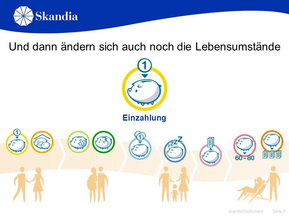 Seite 3 Skandia Deutschland Und dann ändern sich auch noch die Lebensumstände Einzahlung