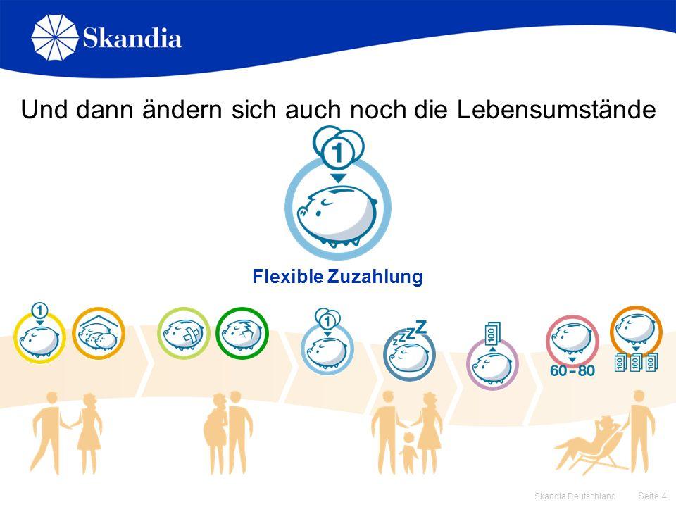 Seite 4 Skandia Deutschland Und dann ändern sich auch noch die Lebensumstände Flexible Zuzahlung
