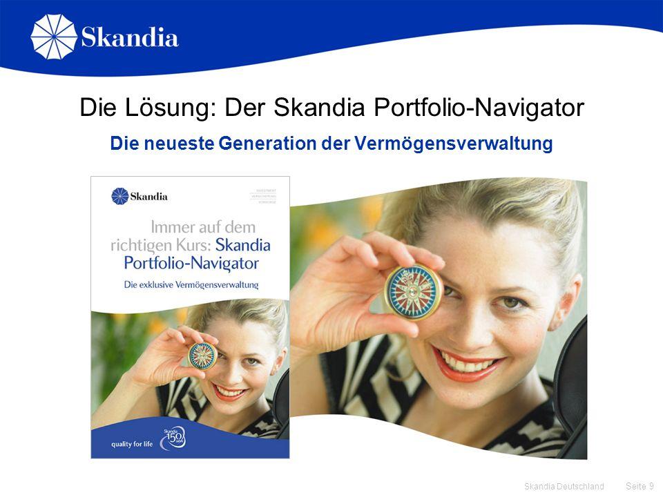Seite 40 Skandia Deutschland Skandia Portfolio-Navigator in der Angebotssoftware Angebot rechnen und Fondsauswahl zur Modellrechnung festlegen NEU.