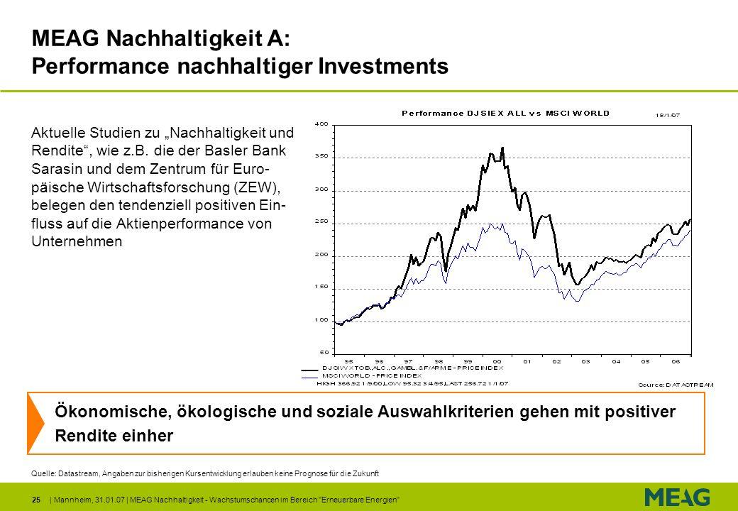 | Mannheim, 31.01.07 | MEAG Nachhaltigkeit - Wachstumschancen im Bereich