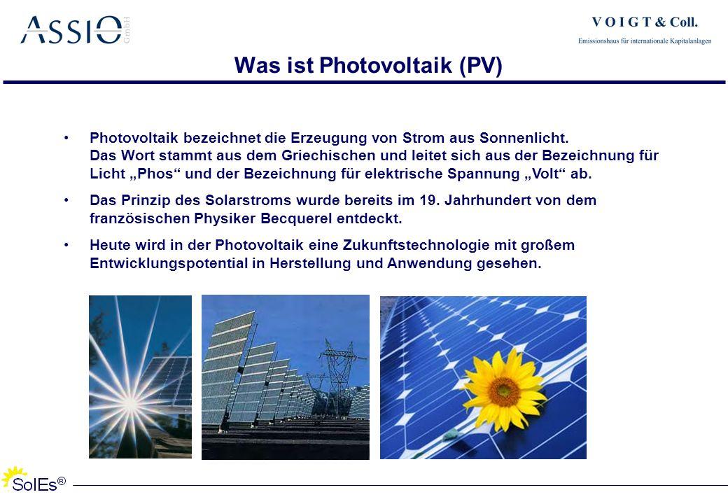 Was ist Photovoltaik (PV) Photovoltaik bezeichnet die Erzeugung von Strom aus Sonnenlicht. Das Wort stammt aus dem Griechischen und leitet sich aus de