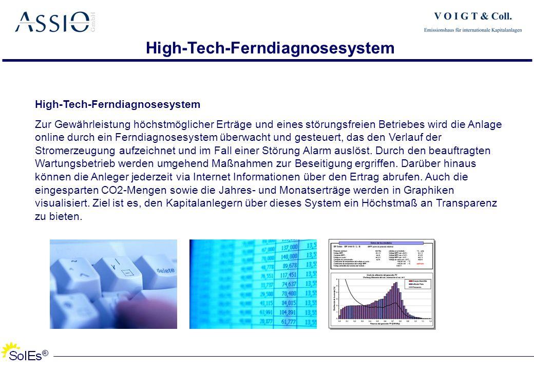 High-Tech-Ferndiagnosesystem High-Tech-Ferndiagnosesystem Zur Gewährleistung höchstmöglicher Erträge und eines störungsfreien Betriebes wird die Anlag