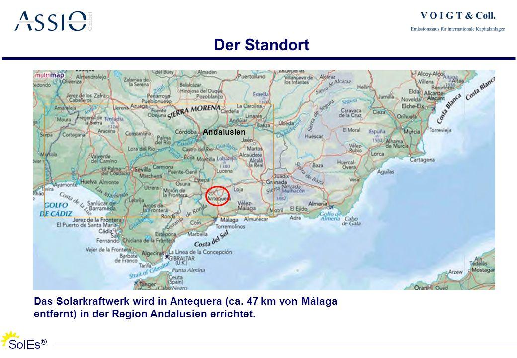 Der Standort Das Solarkraftwerk wird in Antequera (ca. 47 km von Málaga entfernt) in der Region Andalusien errichtet. Andalusien
