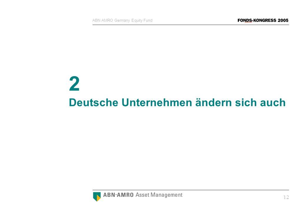 ABN AMRO Germany Equity Fund 12 2 Deutsche Unternehmen ändern sich auch