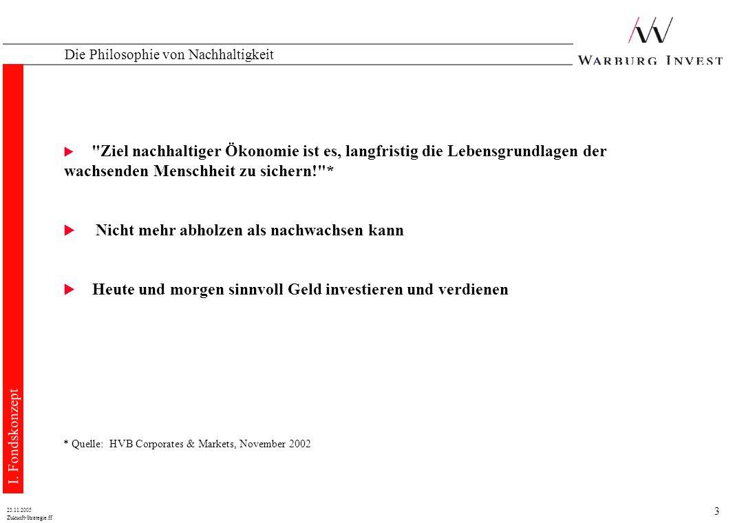 23 Zukunft-Strategie.ff 23.11.2005 WARBURG - ZUKUNFT - STRATEGIEFONDS Der WARBURG – ZUKUNFT – STRATEGIEFONDS I.