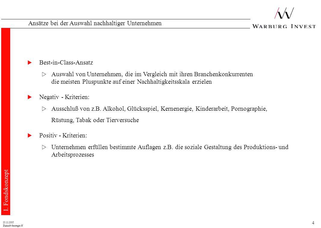 14 Zukunft-Strategie.ff 23.11.2005 Konstruktion eines globalen Dachfonds 1.