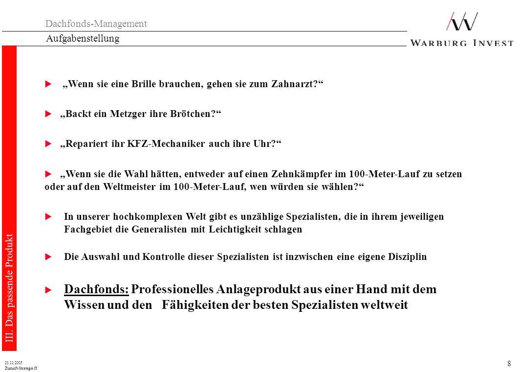 8 Zukunft-Strategie.ff 23.11.2005 Aufgabenstellung III.