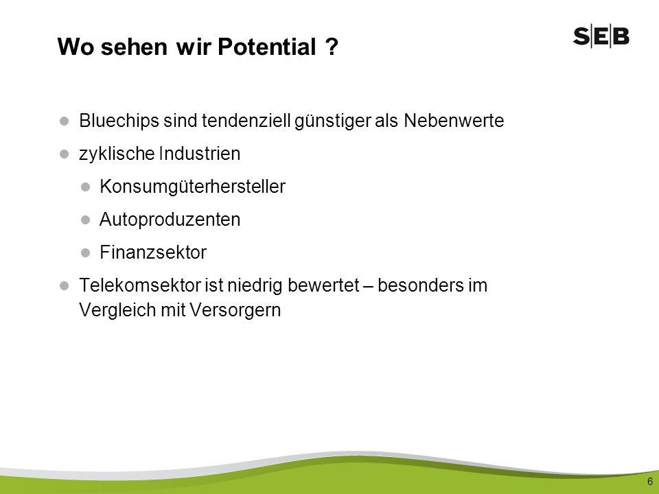 7 VW / Audi Market Cap: 30 Mrd., Buchwert: 24 Mrd., Kasse: 8 Mrd., Umsatz ca.