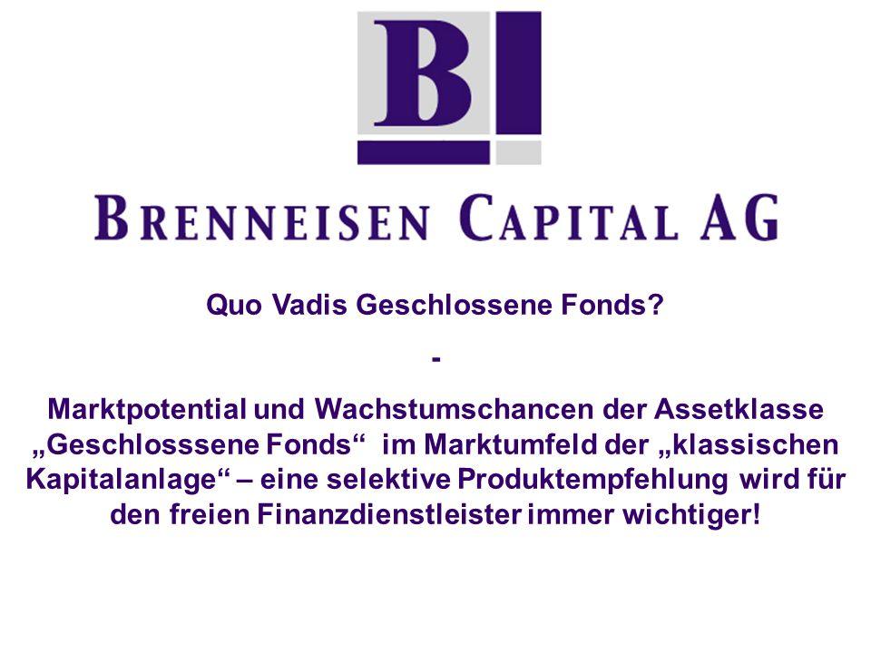 Das Marktpotential von Geschlossenen Fonds: Fonds A isoliert betrachtet viel risikoärmer als Fonds B Dennoch ist das Depot P, bestehend aus 77% A und 23% B deutlich risikoärmer bei einer höheren Performance.