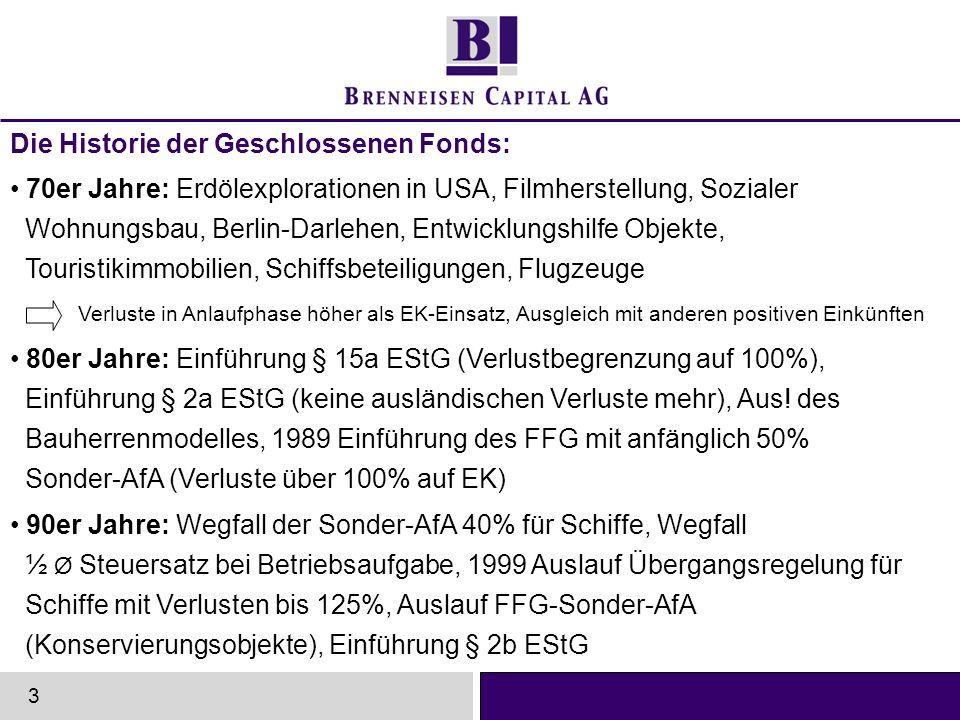 Die Historie der Geschlossenen Fonds: 70er Jahre: Erdölexplorationen in USA, Filmherstellung, Sozialer Wohnungsbau, Berlin-Darlehen, Entwicklungshilfe