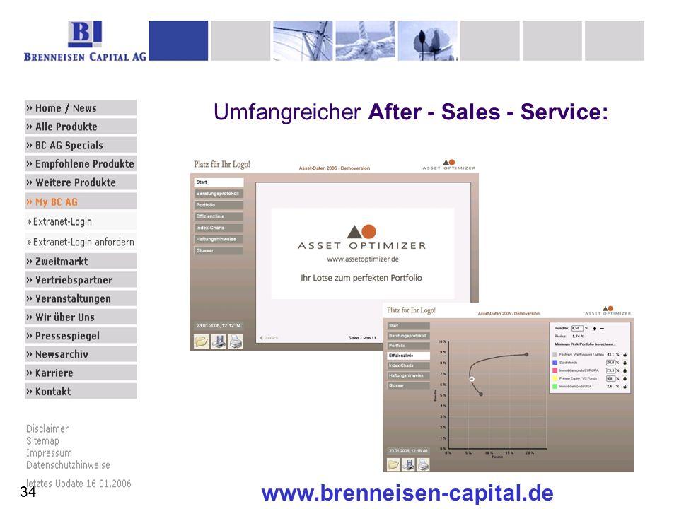 www.brenneisen-capital.de Umfangreicher After - Sales - Service: 34