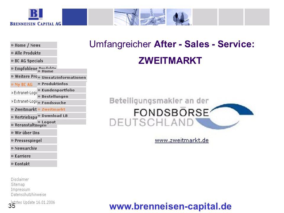 www.brenneisen-capital.de Umfangreicher After - Sales - Service: ZWEITMARKT 35