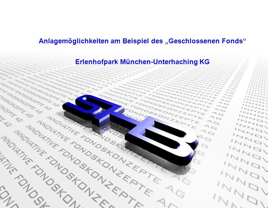 Die SHB AG investiert nur in Westdeutschland in ausgesuchte A und B Lagen Anlagemöglichkeiten am Beispiel des geschlossenen Fonds Erlenhofpark München-Unterhaching KG Luftaufnahme vom Erlenhofpark
