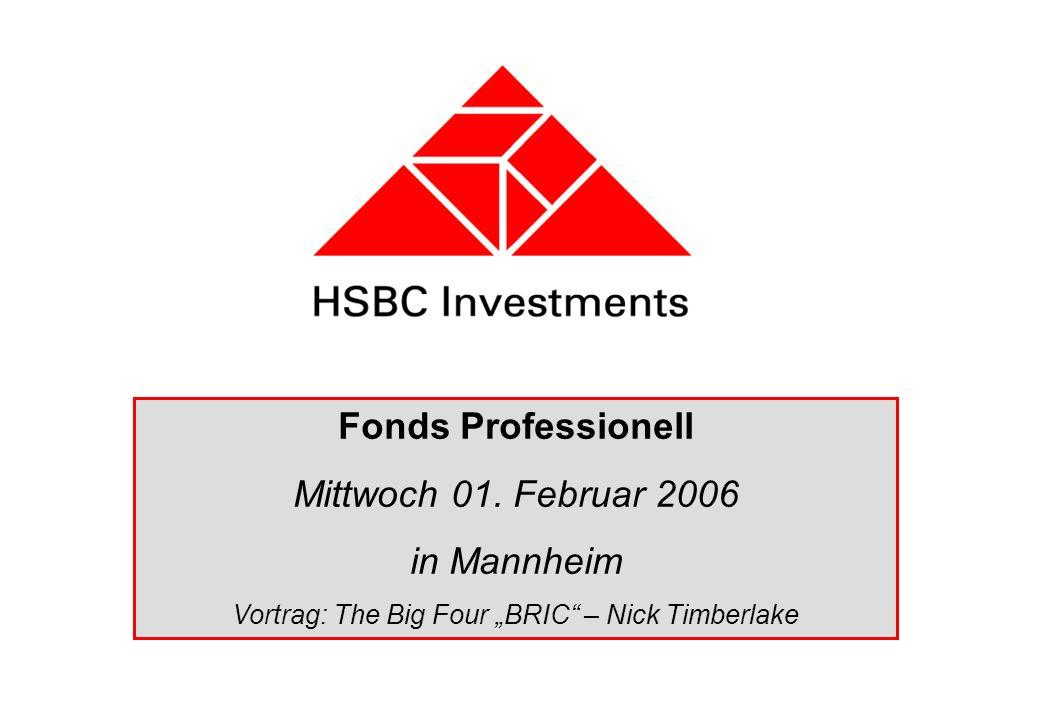Fonds Professionell Mittwoch 01. Februar 2006 in Mannheim Vortrag: The Big Four BRIC – Nick Timberlake