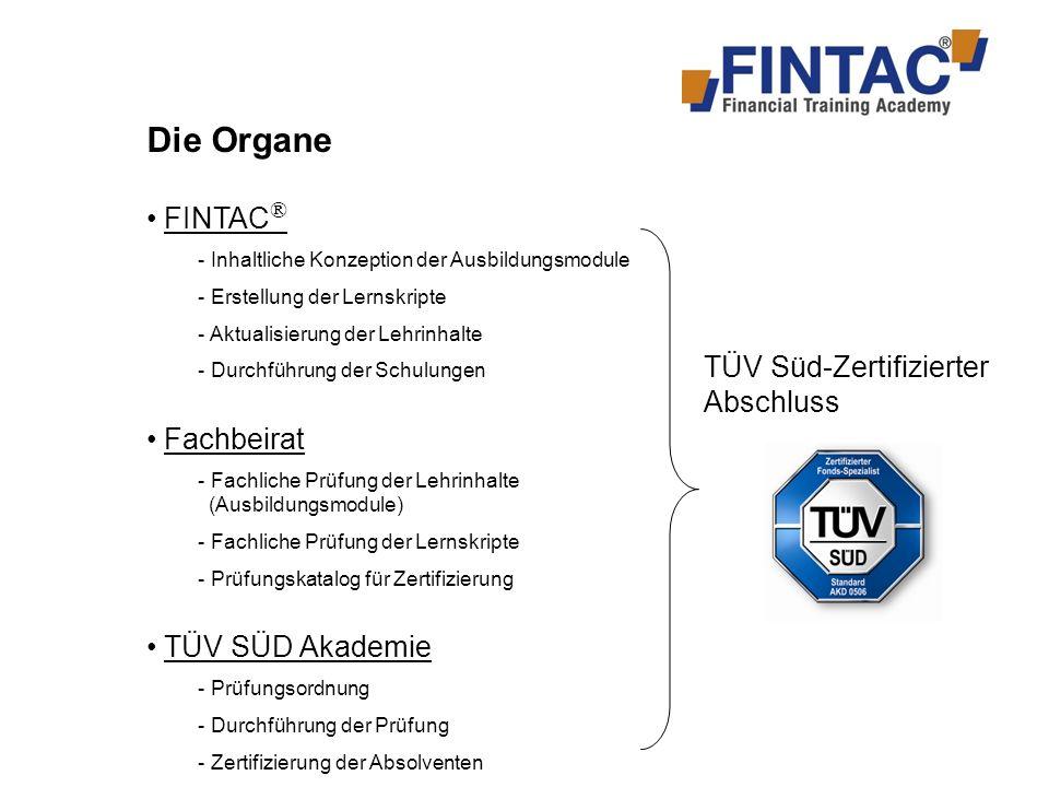 Warum FINTAC ® und TÜV SÜD Akademie.