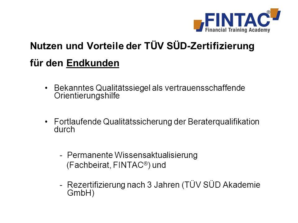 für den Finanzberater (I) Umfassende Ausbildung als Spezialist bzw.