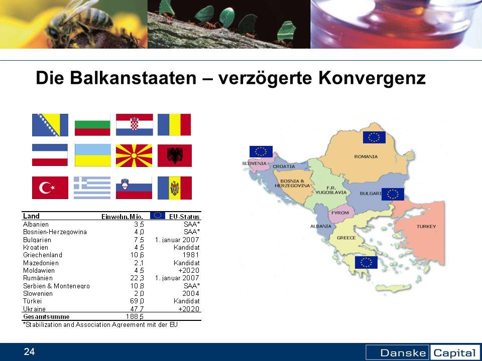 24 Die Balkanstaaten – verzögerte Konvergenz