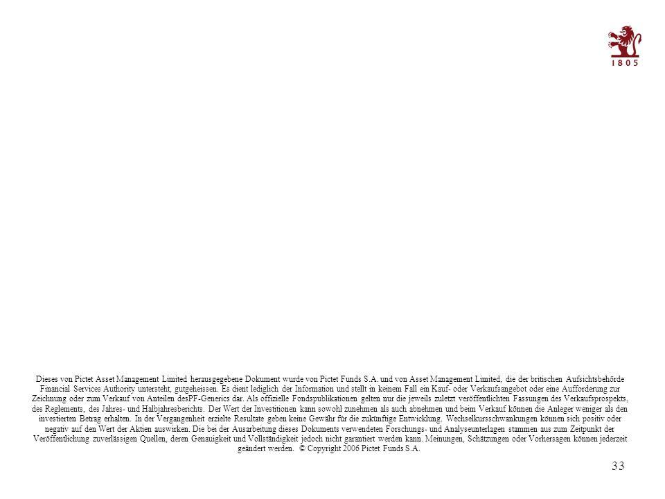 33 Dieses von Pictet Asset Management Limited herausgegebene Dokument wurde von Pictet Funds S.A.