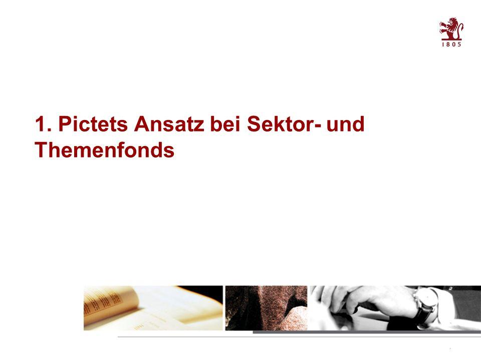 3 Table of contents 1. Pictets Ansatz bei Sektor- und Themenfonds