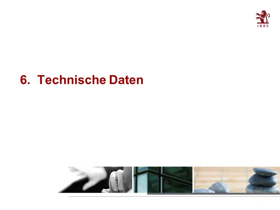 32 Table of contents 6. Technische Daten