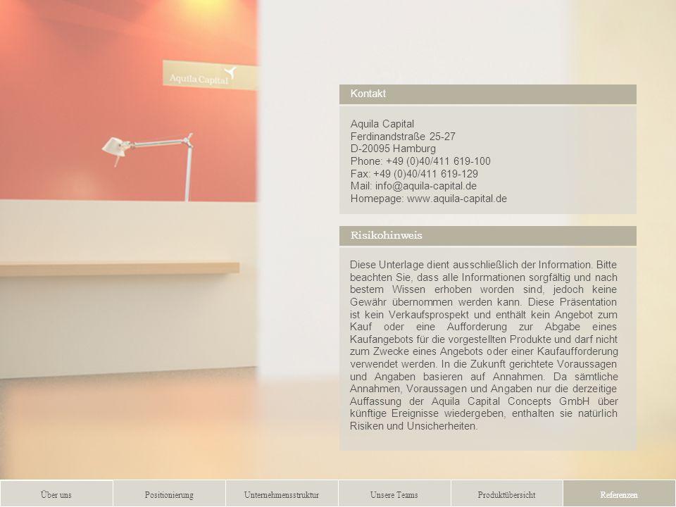 …..……………………..………….……….…………………………………………….................. 9 Aquila Capital Ferdinandstraße 25-27 D-20095 Hamburg Phone: +49 (0)40/411 619-100 Fax: +49