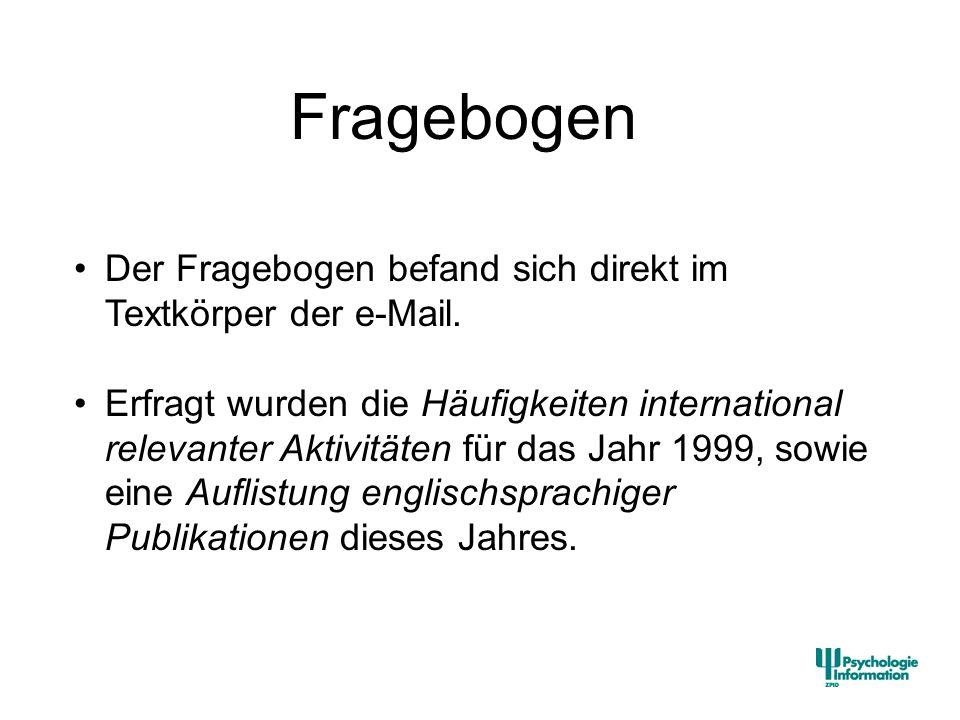 Aktivitäten Englischsprachige Veröffentlichungen Herausgeberschaft intern.