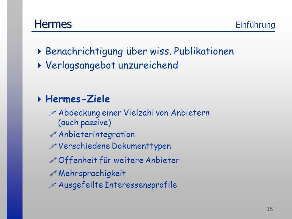 15 Hermes Hermes Einführung Benachrichtigung über wiss.