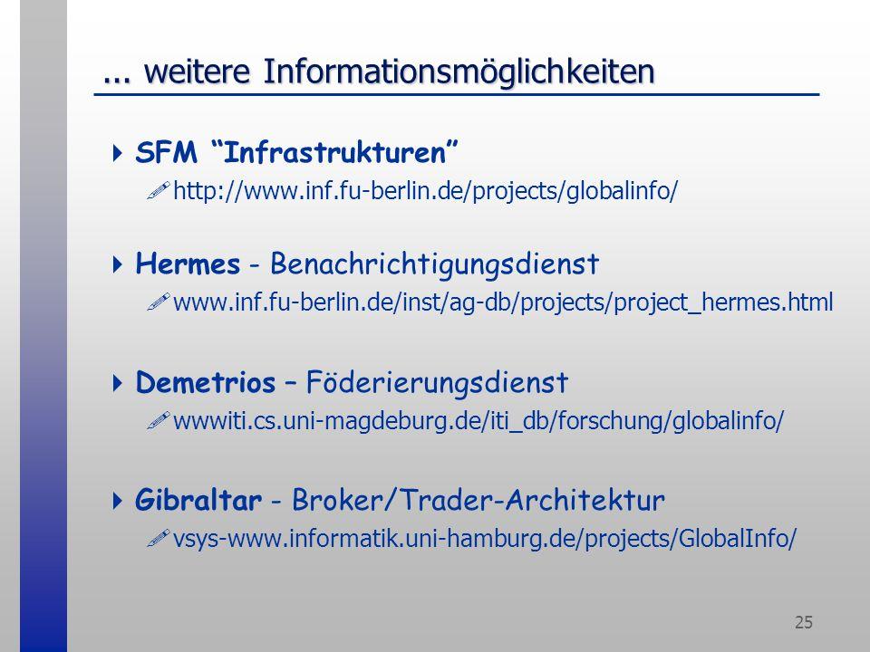 25... weitere Informationsmöglichkeiten SFM Infrastrukturen .