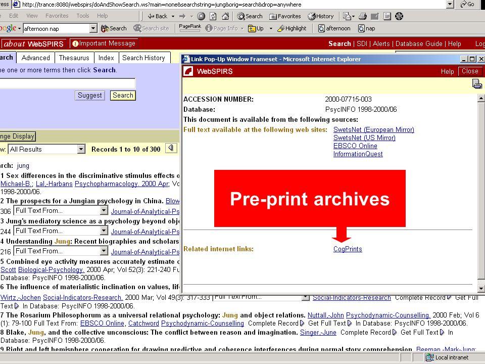 Pre-print archives