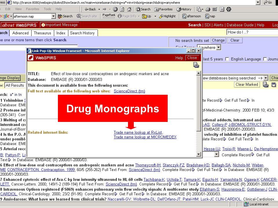 Drug Monographs