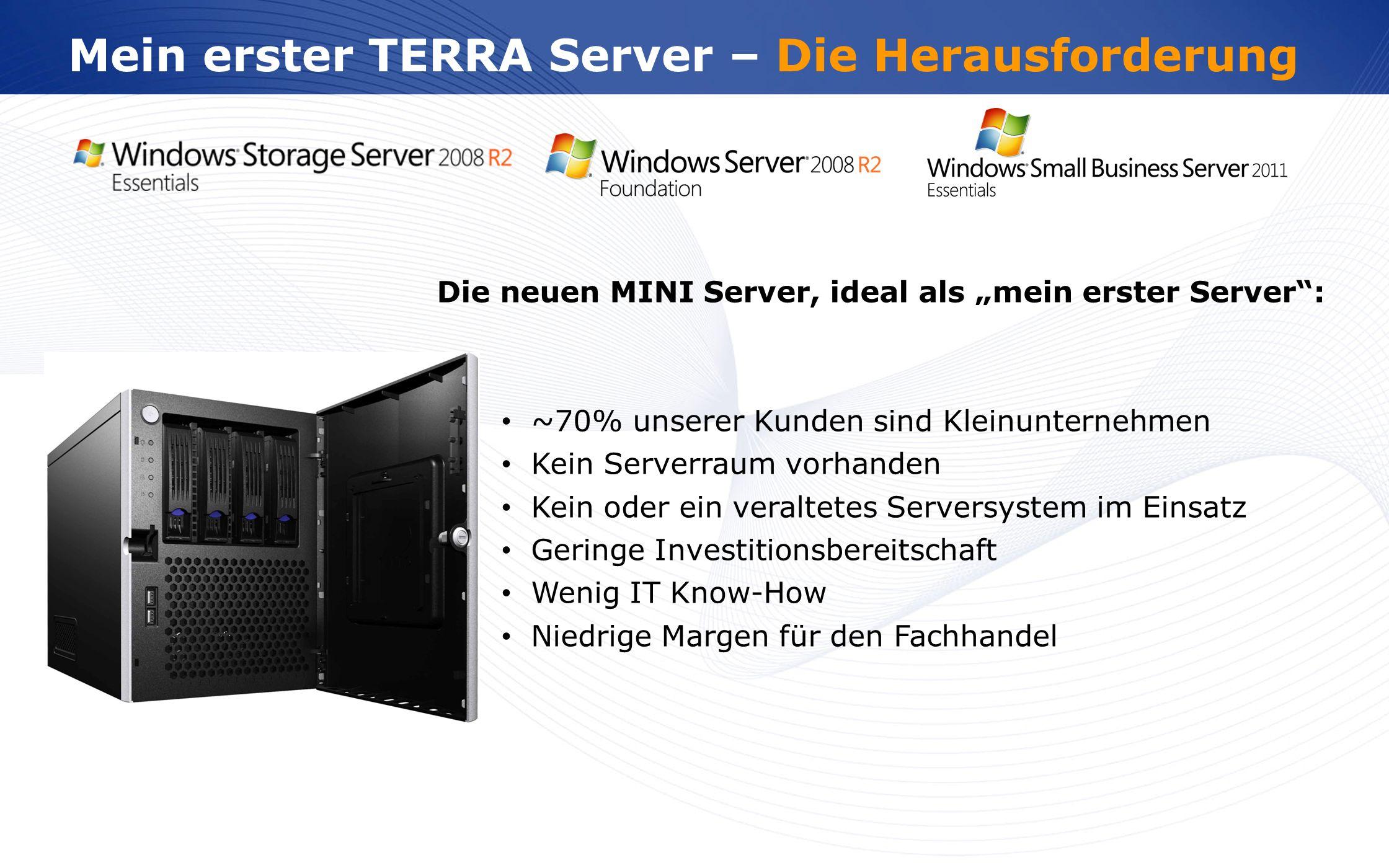 www.wortmann.de Mein erster TERRA Server – Die Herausforderung Die neuen MINI Server, ideal als mein erster Server: ~70% unserer Kunden sind Kleinunte
