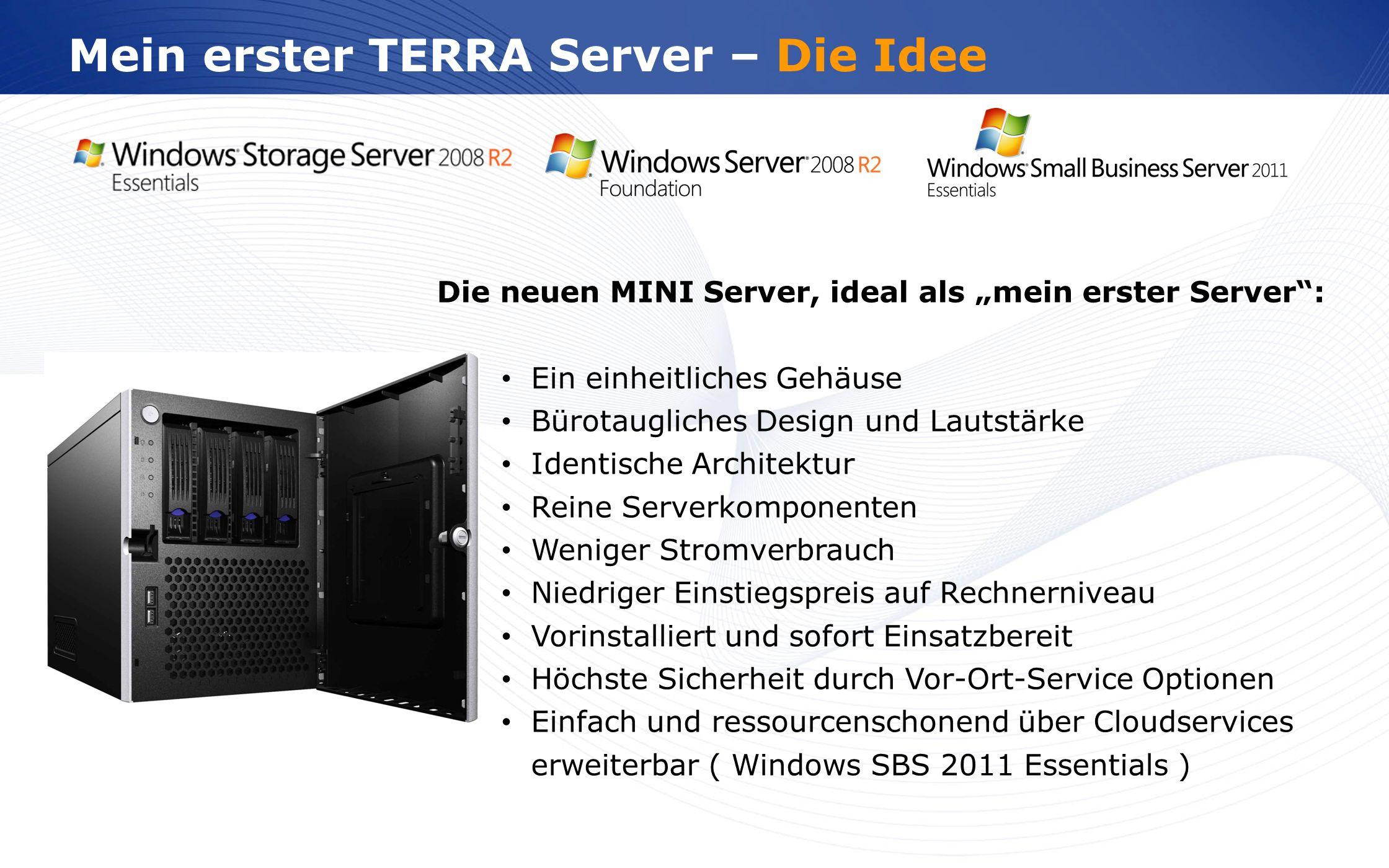 www.wortmann.de Mein erster TERRA Server – Die Idee Die neuen MINI Server, ideal als mein erster Server: Ein einheitliches Gehäuse Bürotaugliches Desi