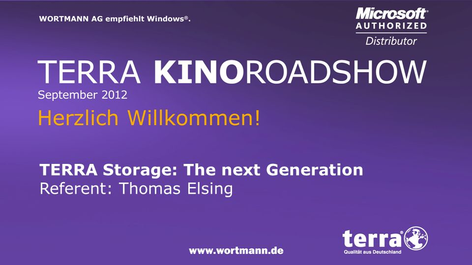 TERRA Storage: The next Generation Referent: Thomas Elsing