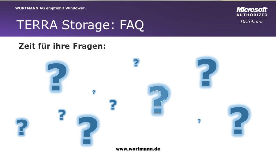 TERRA Storage: FAQ Zeit für ihre Fragen:
