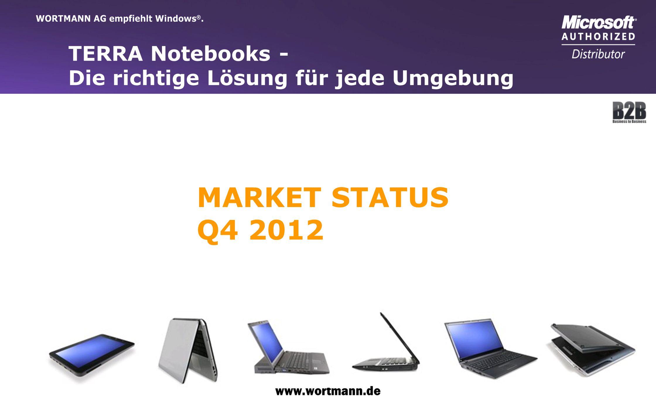www.wortmann.de TERRA Notebooks - Die richtige Lösung für jede Umgebung MARKET STATUS Q4 2012