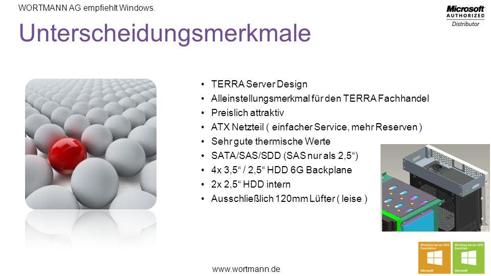 www.wortmann.de WORTMANN AG empfiehlt Windows.TERRA SERVER 8000 CPU4 x INTEL Xeon bis max.