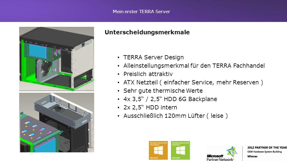 Mein erster TERRA Server Unterscheidungsmerkmale TERRA Server Design Alleinstellungsmerkmal für den TERRA Fachhandel Preislich attraktiv ATX Netzteil