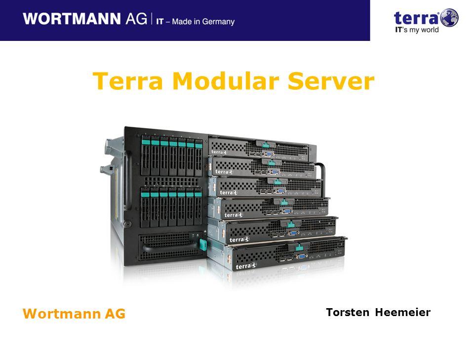 Vorstellung des Terra Modular Servers Systemeigenschaften Architekturüberblick Stromversorgung und Kühlung Integrierter Festplattenspeicher Netzwerkmodul Managementmodul Vorstellung des Terra Server Moduls (Einschub) Konfiguration und Management des Terra Modular Servers TERRA MODULAR SERVER – Agenda