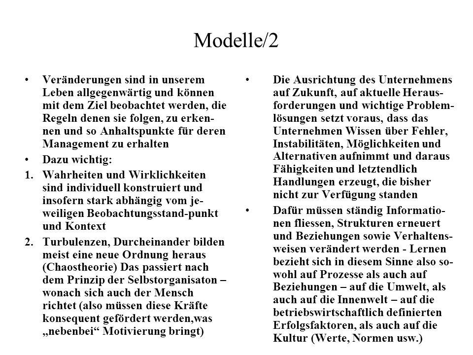Modelle/2 Veränderungen sind in unserem Leben allgegenwärtig und können mit dem Ziel beobachtet werden, die Regeln denen sie folgen, zu erken- nen und