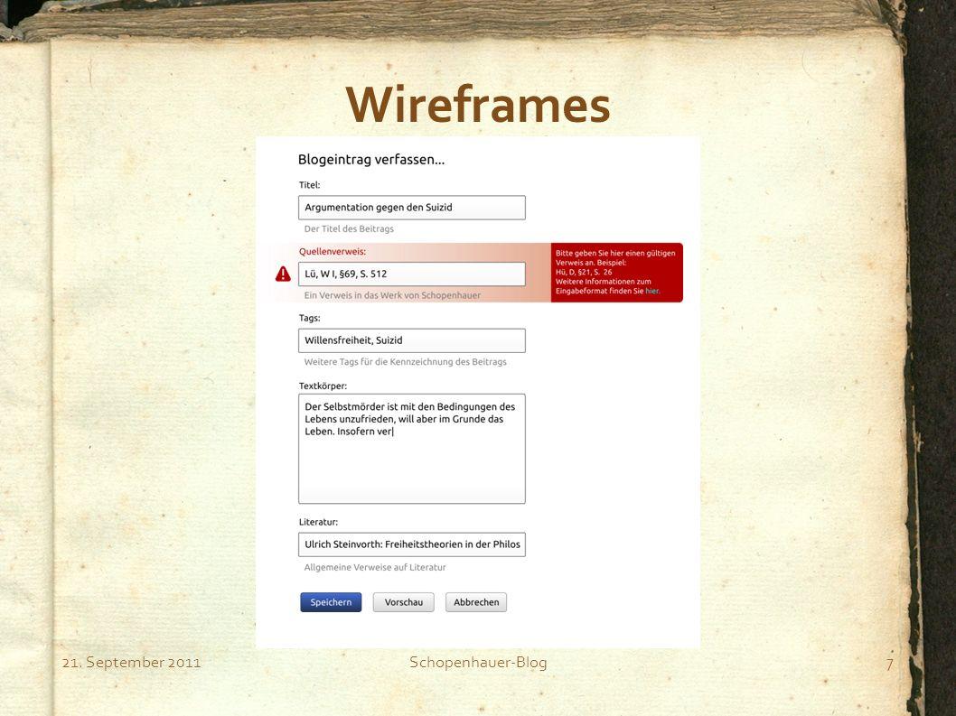 21. September 2011Schopenhauer-Blog8 Wireframes
