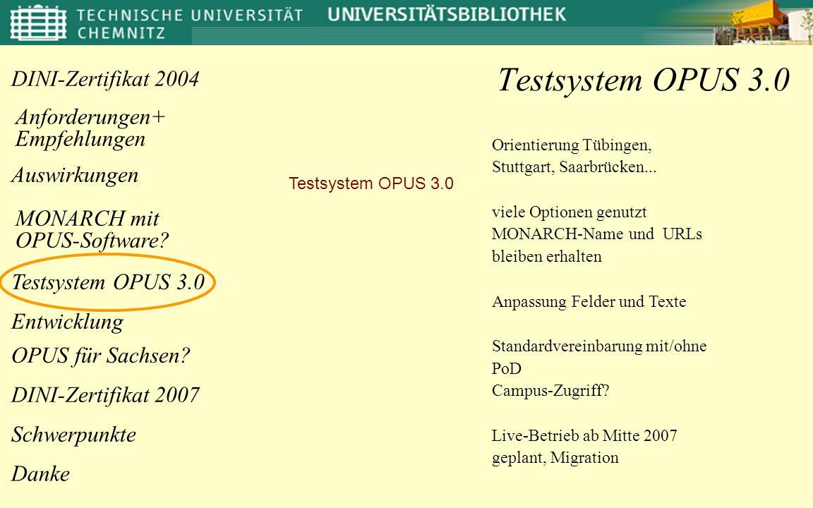 Auswirkungen Anforderungen+ Empfehlungen OPUS für Sachsen.