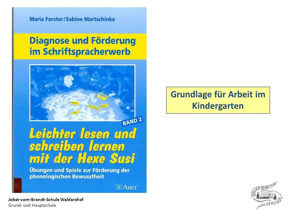 Jobst-vom-Brandt-Schule Waldershof Grund- und Hauptschule Grundlage für Arbeit im Kindergarten