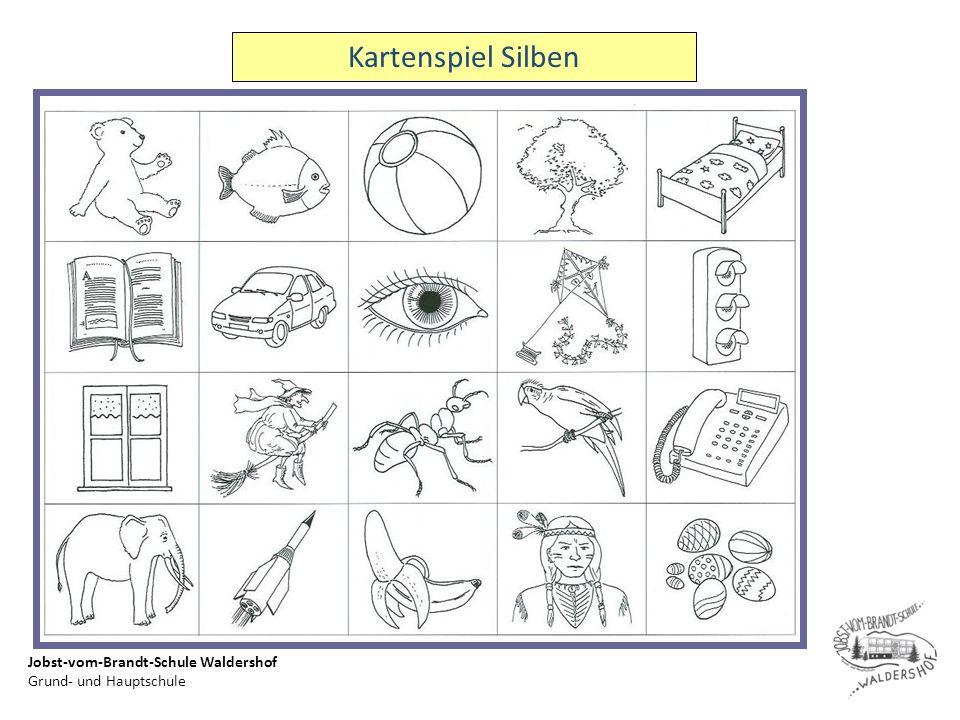 Jobst-vom-Brandt-Schule Waldershof Grund- und Hauptschule Kartenspiel Silben