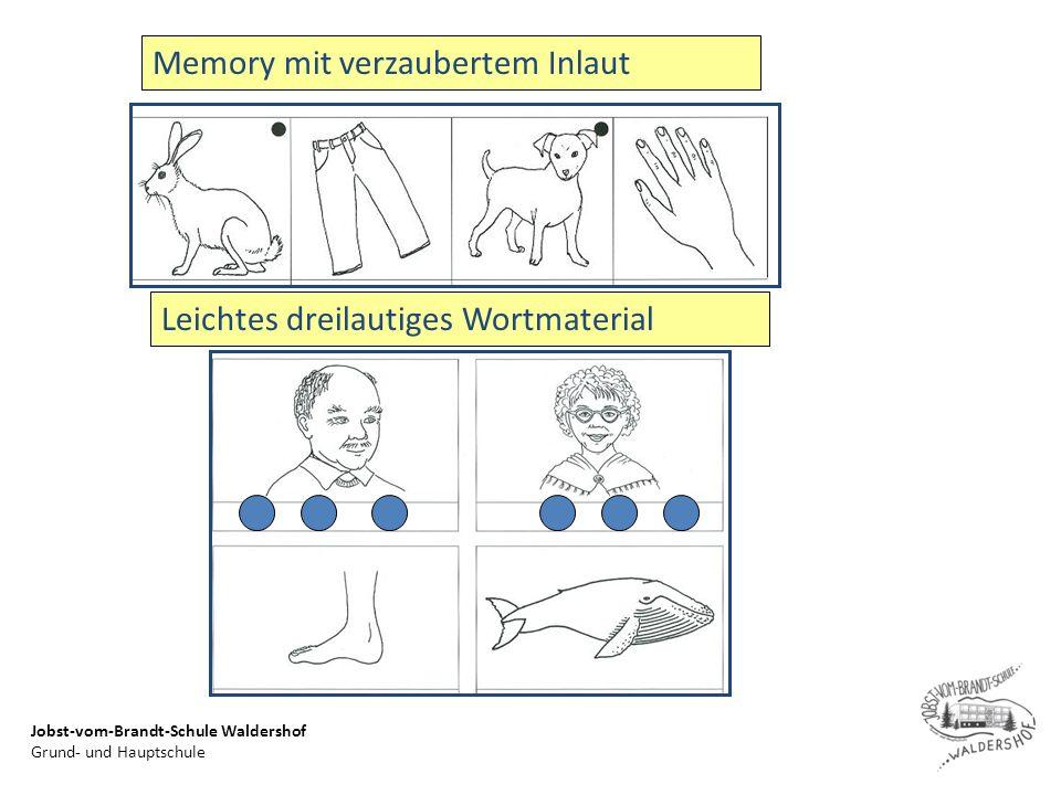Jobst-vom-Brandt-Schule Waldershof Grund- und Hauptschule Memory mit verzaubertem Inlaut Leichtes dreilautiges Wortmaterial